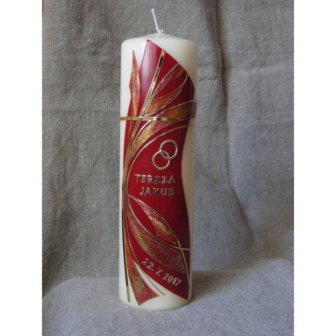 Svatební svíce 056
