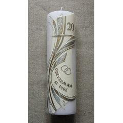 Svatební svíce 051e k výročí